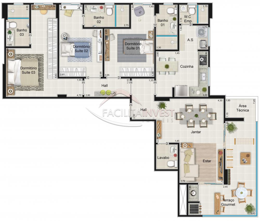 Comprar Lançamentos/ Empreendimentos em Construç / Apartamento padrão - Lançamento em Ribeirão Preto apenas R$ 623.000,00 - Foto 1