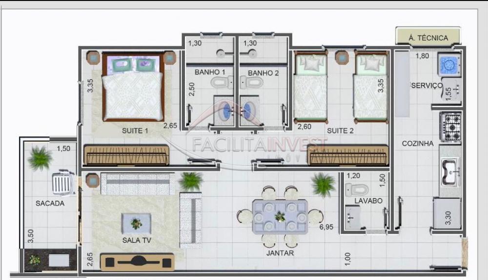 Ribeirao Preto Apartamento Venda R$238.000,00 2 Dormitorios 2 Suites Area construida 74.16m2